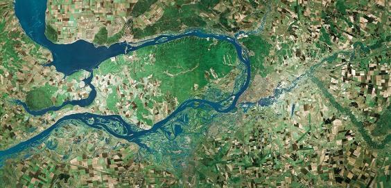 Самарская Лука – фото со спутника